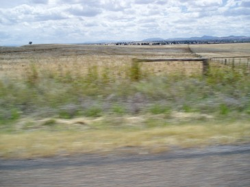 *nice picture of Aussie fields taken from car